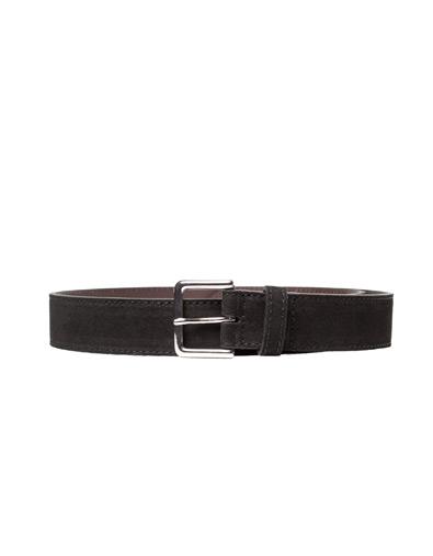 Zara Casual Black Topstitched Belt