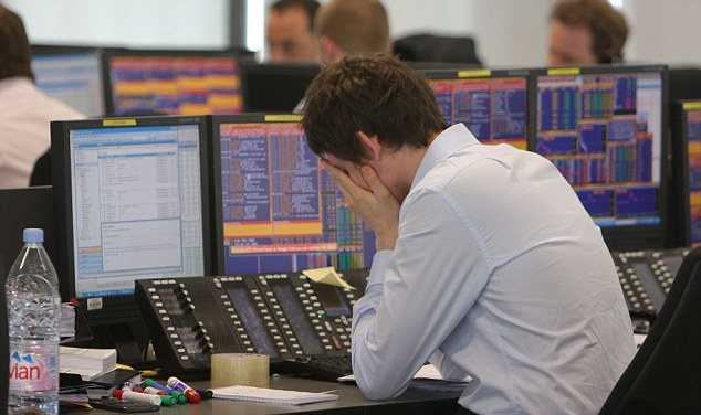 traders at BGC trading floor do there best as the markets collapse